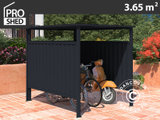 Cykelskur 1,8x2,03x1,93m, antracit