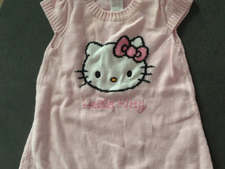 Hello kitty kjole i strik str 62