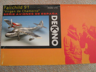 Dekno Fairchild 91 skala 1/72