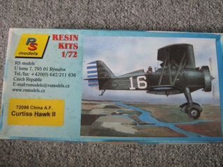 RS-Models Curtiss Hawk II skala 1/72