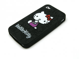 KAMPAGNE VARE, iPhone 4/4s Hello Kitty silikone cover -Sort