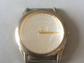 Coln watch - half dollar