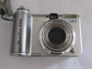 canon power shot A610 med ekstra batteri