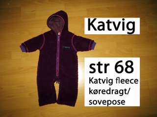 288) str 68 Katvig fleecedragt