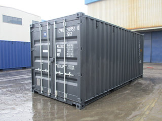 20'DC Ny container RAL 7021 ab Aarhus