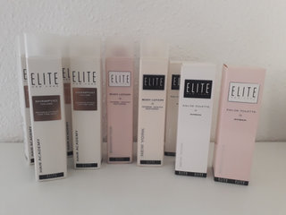 Elite Shampoo, Body Lotion m.m.