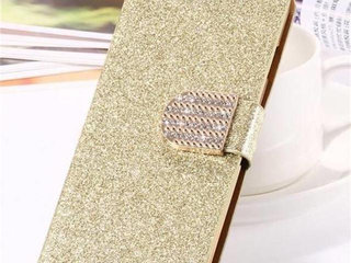 Guld glimmer flip cover iPhone 6 6s 7 8