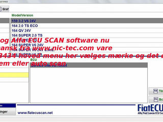 MultiEcuScan test software for Fiat og Alfa fuld licens Original Dansk version