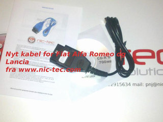 USB Kabel for Alfa Romeo Fiat og Lancia