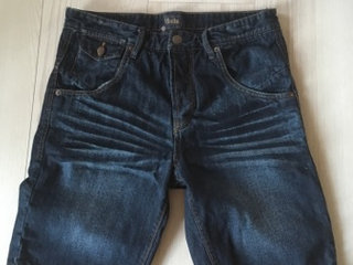 Solid jeans shorts str M
