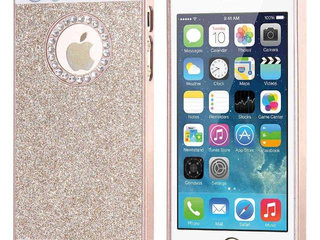 Guld glimmer cover iPhone 5 5s SE 6 6s