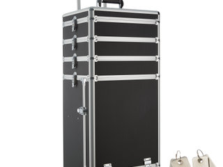 Beauty trolley med 4 etager sort