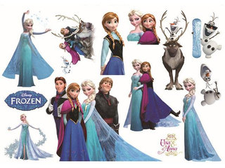 Frost Frozen wallstickers med Elsa mm