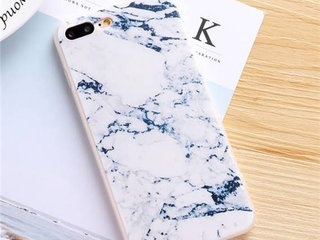 Hvid marmor cover iPhone 5s SE 6 6s 7 8