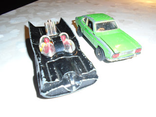 Batmobil og Ford Capri ( Playart )