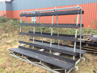 Glasstativ for trailer, galv. Stel