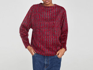 Zara soft touch checked sweater