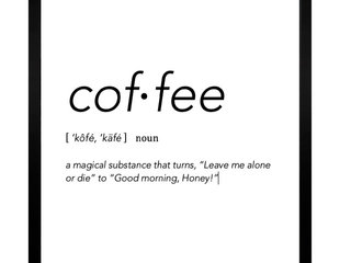 Coffee Definitions Plakat
