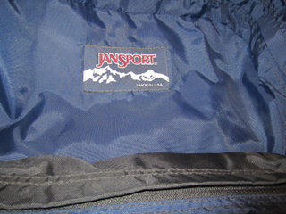 JANSPORT: Fed Vandrerygsæk.