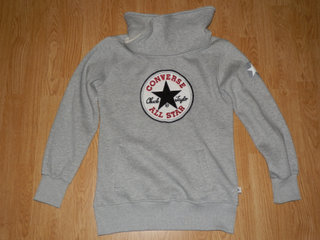 Grå Converse All Star Logo Sweatshirt str. L