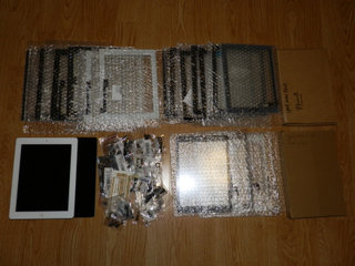 Lot m. to iPad og 19 Glas Digitizer + div. dele