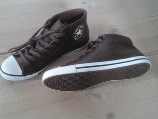 Converse All Stars sneakers i brunt skind