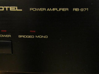 HIGH END ROTEL RB 971 POWER AMP