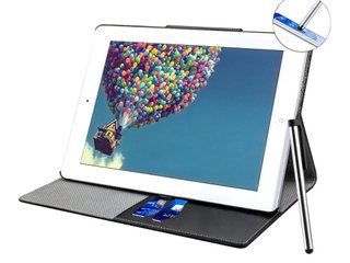 Stand PU Leather Case til Ipad 5/6/Air - Sort