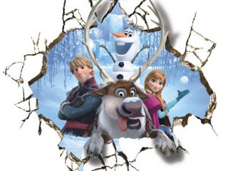Frost wallstickers med Frost Anna Kristoff Svend O