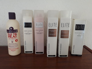 Aussie + Elite Shampoo, Body Lotion m.m.