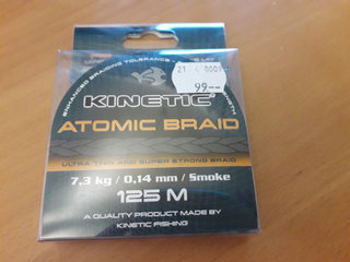 Kinetic Atomic Braid 0.14, 7.3 kg, 125 m
