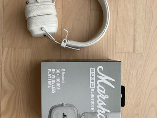 Marshall Major 3 Headset hvide.
