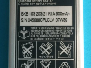Originalt Sony Ericsson BST-37 Batteri Li-Ion 3.6V