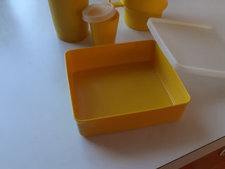 4 st? retro gult Tupperware,Vent Smart