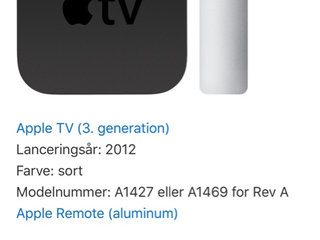 Apple TV A1469 3. gen