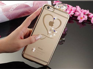 Guld silikone cover iPhone 6 6s SE 2020 7 8 7+ 8+