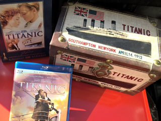 TITANIC Bluray, DVD Deluxe edition & læder boks.
