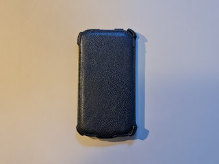 Sort Læder Cover til Samsung Galaxy Note II