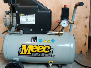 Meec Tools 1,5 HP kompressor 1 cyl. 24 ltr.