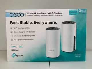 TP Link mesh Wifi system.