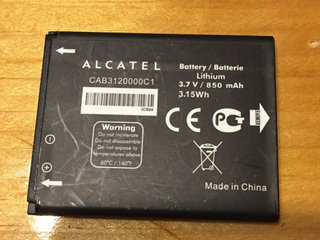Originalt Alcatel CAB3120000C1 Batteri Li-Ion 3.7V
