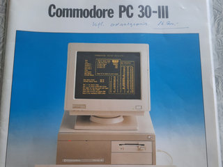 Commodore PC 30-III og Epson LQ 400