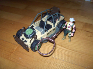 Safari: en jeep og action Figur