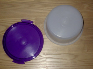 Tupperware ostebox  rund