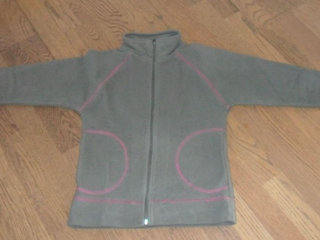 Fleece jakke str.14-16 år