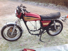 Yamaha TX 750  Rullende chassi