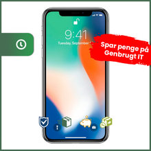 Apple iPhone X 256GB (Sølv) - Grade B - mobiltelefon