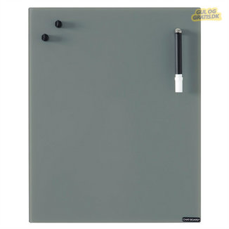 Chat Board Dark Grey Glastavle, billede 1