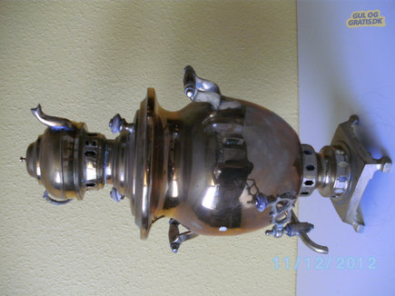 samovar, messing, billede 1